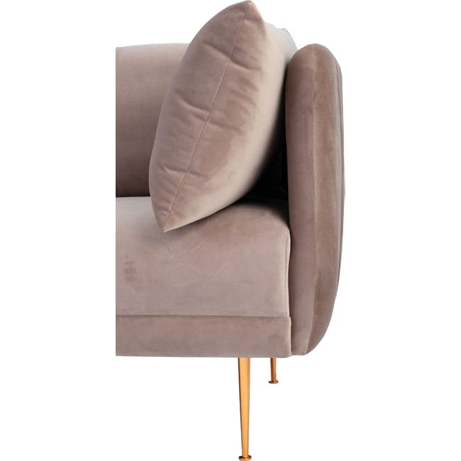 Esme 3 Seater Sofa - Blush (Velvet) - 7