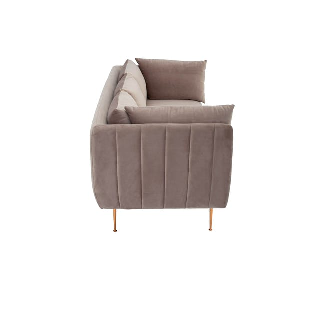 Esme 3 Seater Sofa - Blush (Velvet) - 3