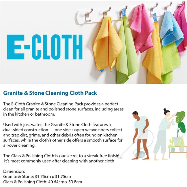 e-cloth Granite Cleaning Cloth Pack (Set of 2) - 2