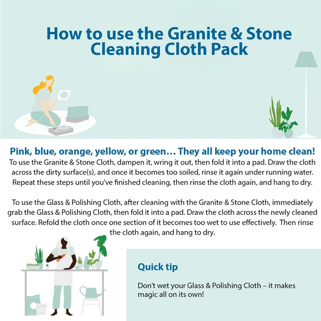 e-cloth Granite Cleaning Cloth Pack (Set of 2) - 5