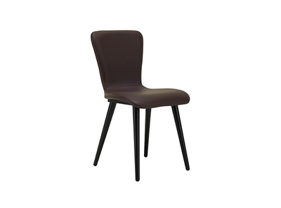 Valley Vinyl Seat Dining Chair - Black, Mocha - Image 1