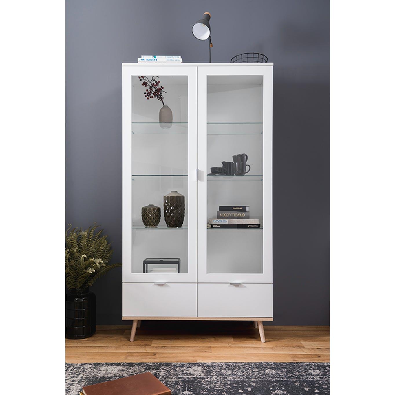 White glass book display