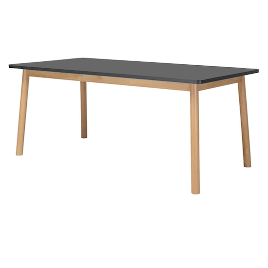 Preloved - (As-is) Kendall Dining Table 1.8m - Natural, Graphite Grey - 6