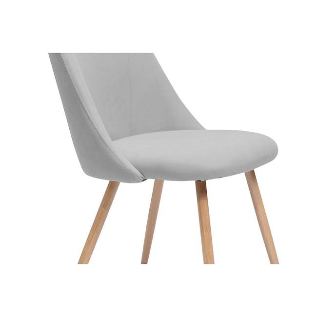 Lana Dining Chair - Oak, Pale Grey (Fabric) - 3