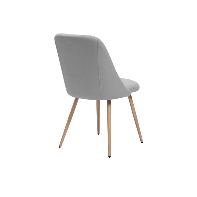 Lana Dining Chair - Oak, Pale Grey (Fabric) - 1