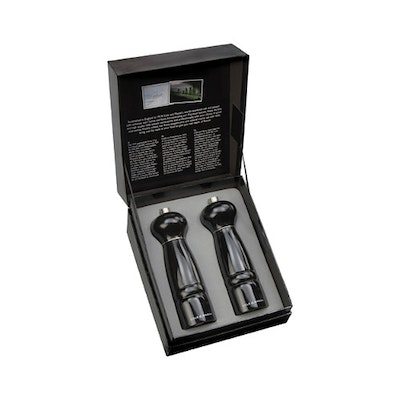 Windsor Black Gloss Salt & Pepper Mill Gift Set - Image 1