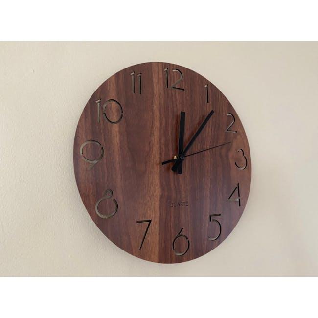 Hunter Wall Clock - Walnut - 5