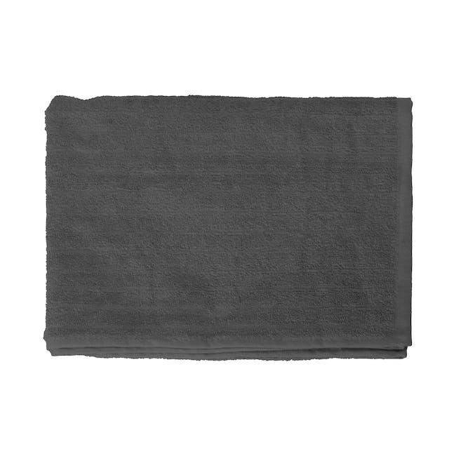 EVERYDAY Bath Towel - Charcoal (Set of 4) - 1