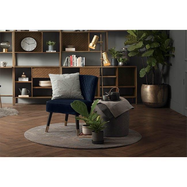 Bianca Lounge Chair - Navy (Velvet) - 2