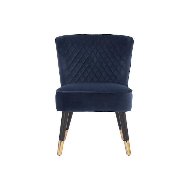 Bianca Lounge Chair - Navy (Velvet) - 0