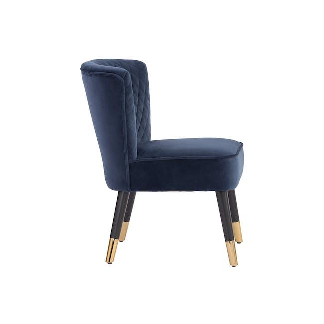 Bianca Lounge Chair - Navy (Velvet) - 3