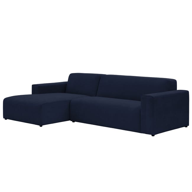 Adam L-Shaped Sofa - Navy - 1