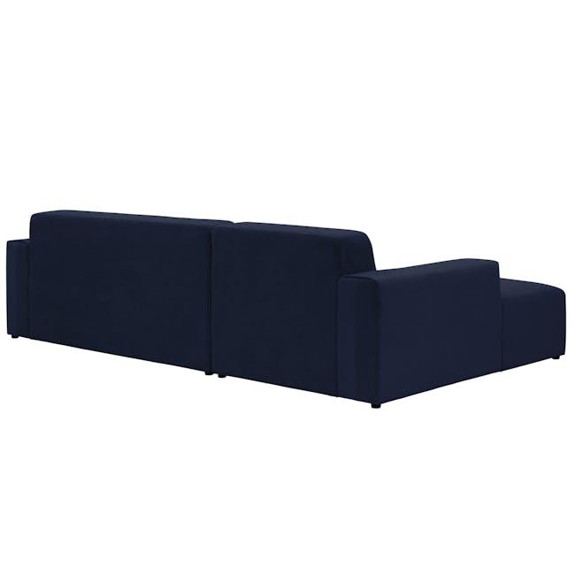 Adam L-Shaped Sofa - Navy - 3