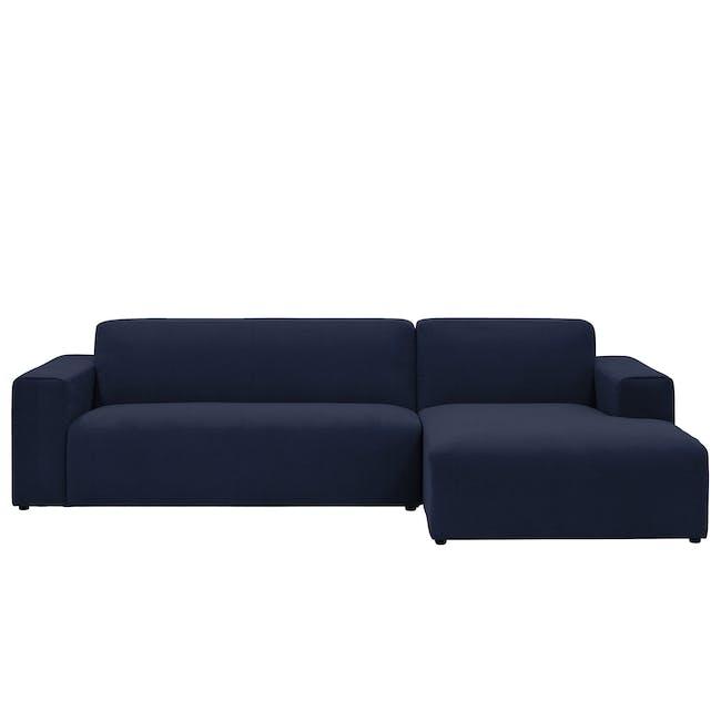 Adam L-Shaped Sofa - Navy - 0