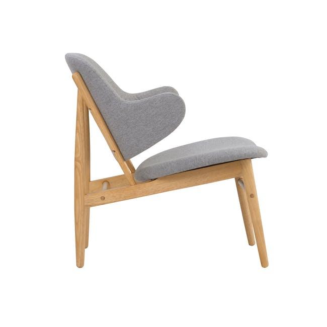 Vezel Lounge Chair - Oak, Dolphin Grey - 1