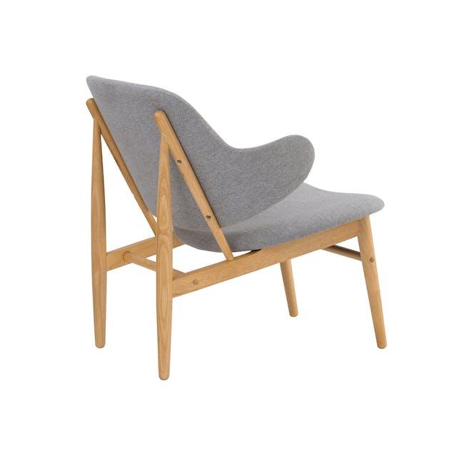 Vezel Lounge Chair - Oak, Dolphin Grey - 3