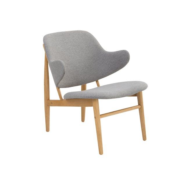 Vezel Lounge Chair - Oak, Dolphin Grey - 0