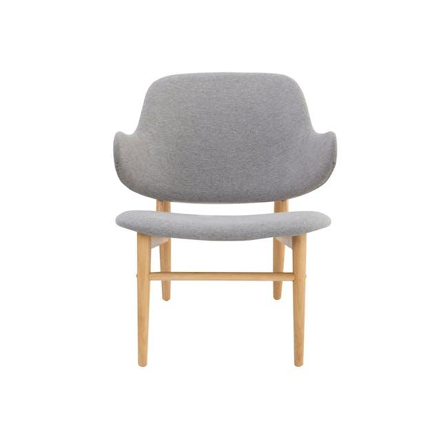 Vezel Lounge Chair - Oak, Dolphin Grey - 2