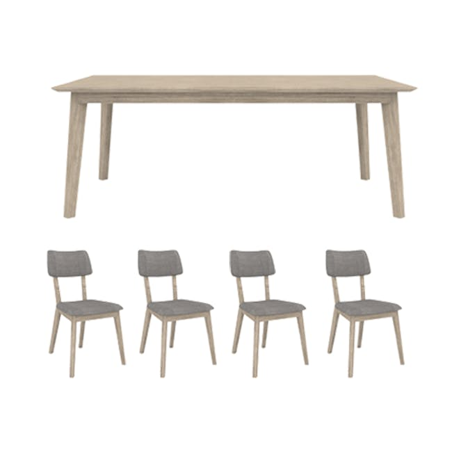 Leland Dining Table 1.6m with 4 Leland Dining Chairs - 0