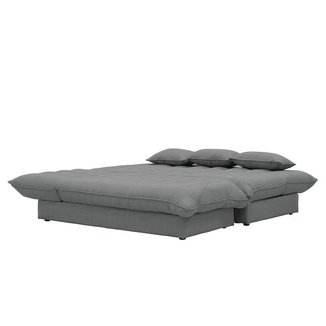 Tessa L-Shaped Storage Sofa Bed - Pigeon Grey - 1