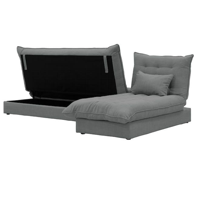 Tessa L-Shaped Storage Sofa Bed - Pigeon Grey - 4