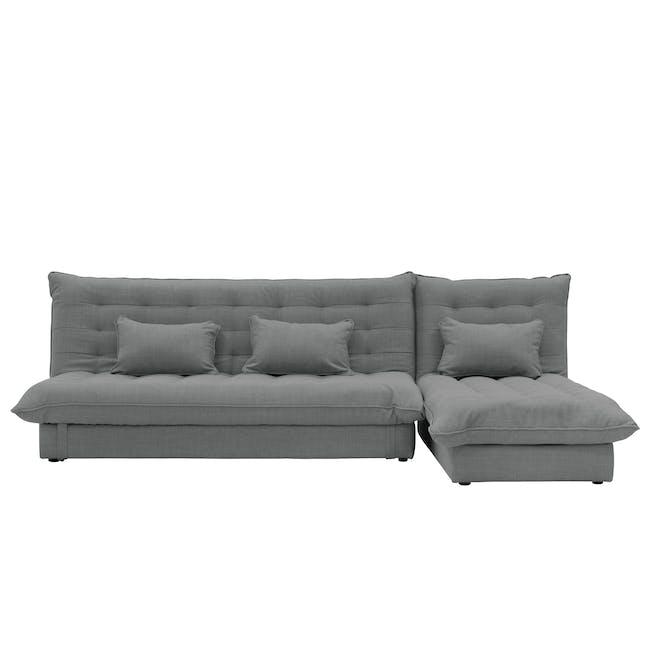 Tessa L-Shaped Storage Sofa Bed - Pigeon Grey - 0