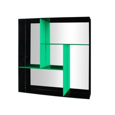 Kiba Wall Organiser & Tray - Black / Green