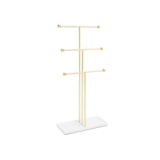 Umbra - Trigem Jewelry Stand - White, Brass