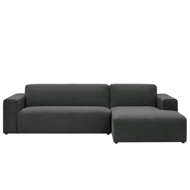 Adam L-Shaped Sofa - Granite - 0