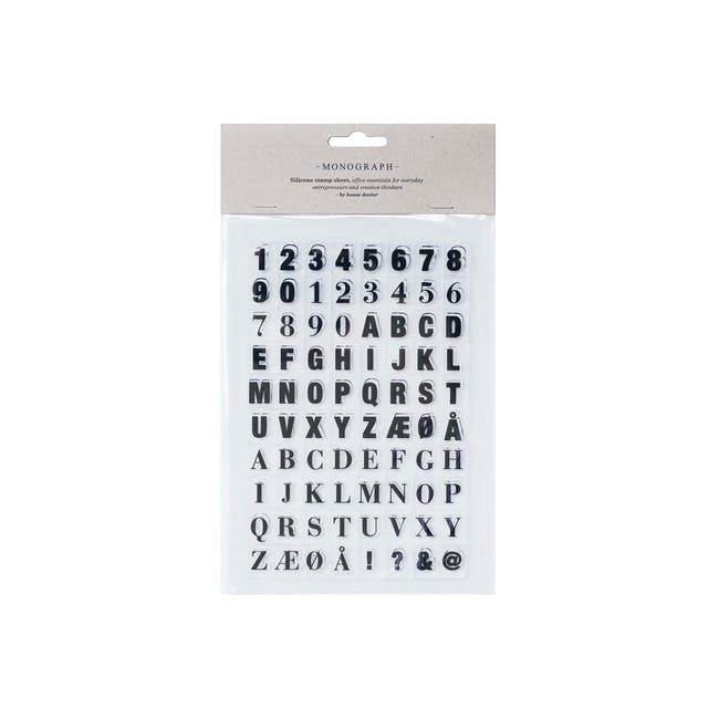 Silicone Stamp Sheet - Letters and Numbers - 0