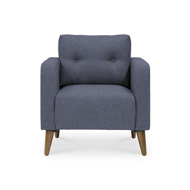 Bennett 2 Seater Sofa with Bennett Armchair - Midnight - 5