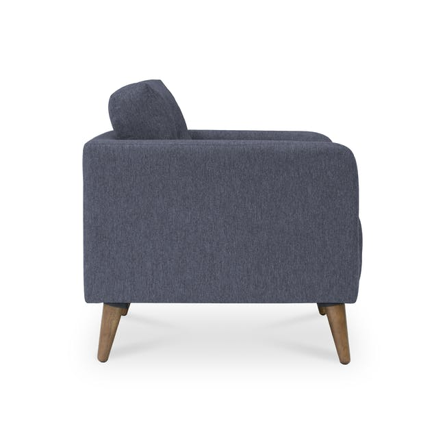 Bennett 3 Seater Sofa with Bennett Armchair - Midnight - 8
