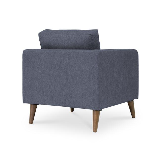 Bennett 3 Seater Sofa with Bennett Armchair - Midnight - 9