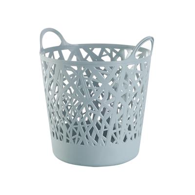 Layla Laundry Basket - Blue Grey - Image 1