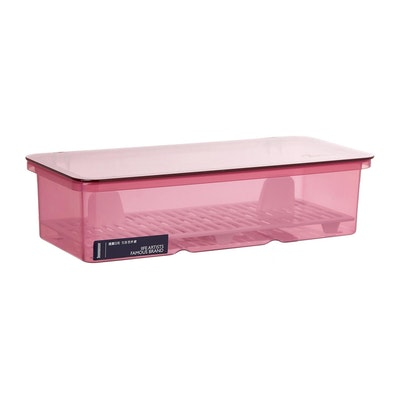 Plastic Cutlery Box - Pink - Image 1