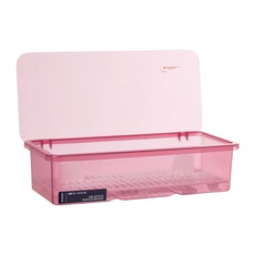 Plastic Cutlery Box - Pink