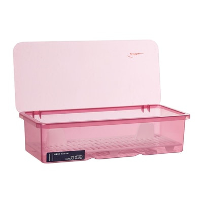 Plastic Cutlery Box - Pink - Image 2