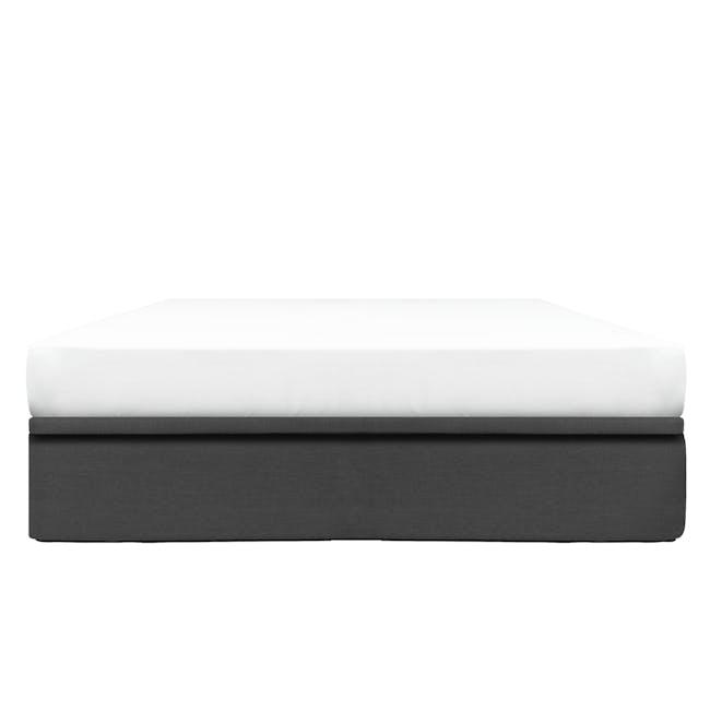 ESSENTIALS King Storage Bed - Smoke (Fabric) - 0