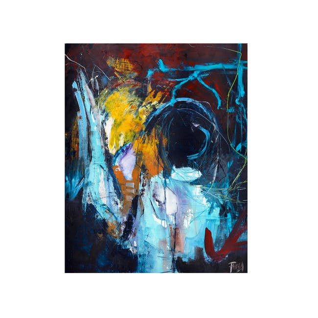Abstract Acrylic Painting 118cm by 100cm - Eye Of The Storm - 0