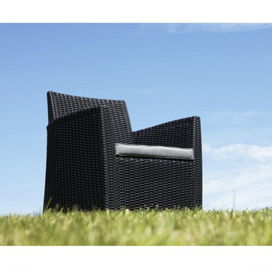 Allibert - Corona Lounge Set with Storage Coffee Table - Graphite