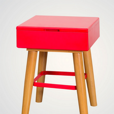 (As-Is) Tetris Stool - Red - 1