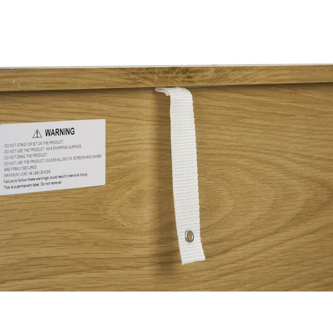 Odin Bedside Table - Oak - 4