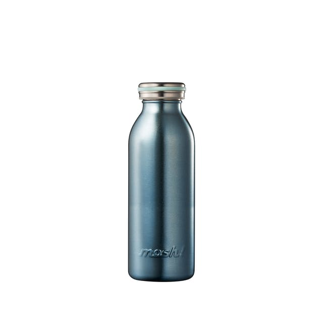 MOSH! Double-walled Stainless Steel Bottle 450ml -  Pearl Blue - 0