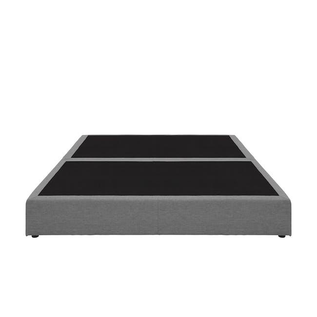 ESSENTIALS Queen Box Bed - Grey (Fabric) - 1