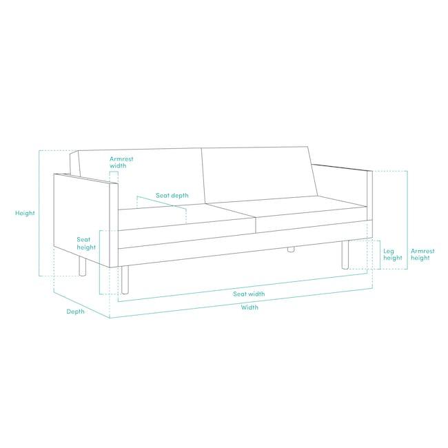 Esme 3 Seater Sofa - Blush (Velvet) - 8
