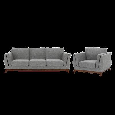Elijah 3 Seater Sofa with Elijah Armchair - Image 1