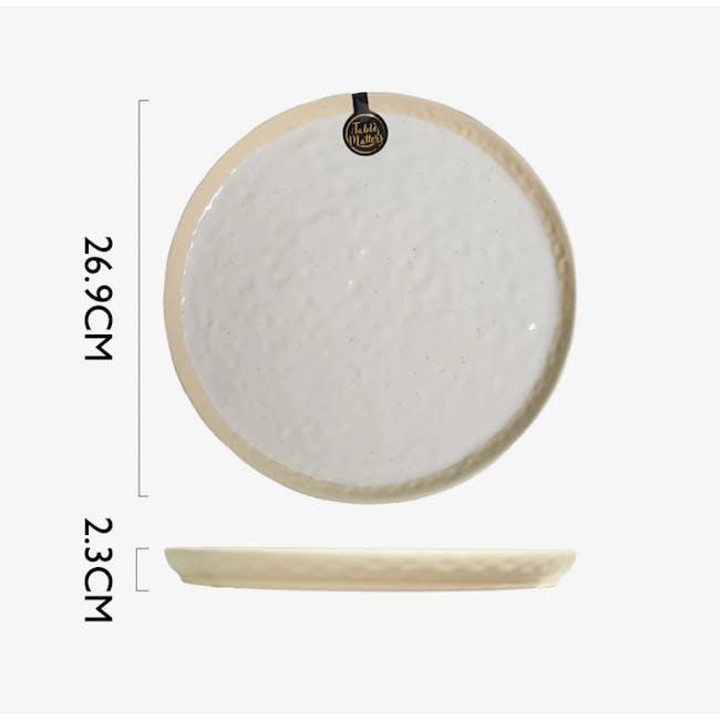 Table Matters Tsuchi White Dinner Plate - 3