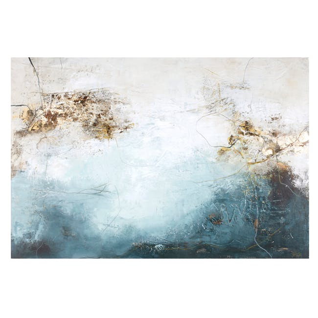 Abstract Acrylic Painting 150cm by 118cm - Blanche Blue - 0