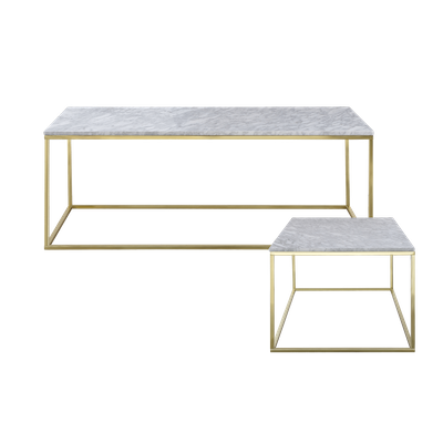 Amelia Marble Coffee Table with Amelia Marble Side Table - Image 1