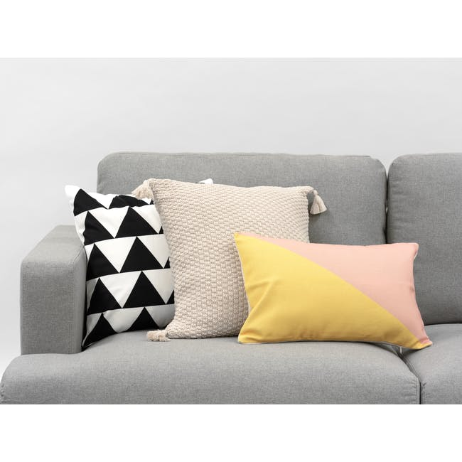 Laura Knitted Cushion Cover - Cream - 3